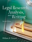 Legal Research, Analysis, And Writing. Text With Cd-Rom For Macintosh And Windows