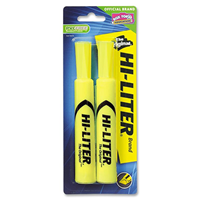 Hi-Liter Fluorescent Highlighter, 2 Pack