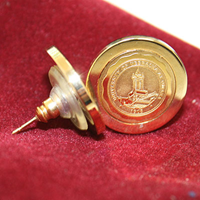 Gold Plated UNO Seal Earrings