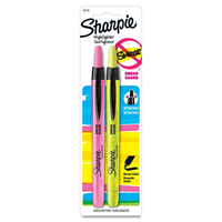 Sharpie Retractable Highlighter, 2 Pack