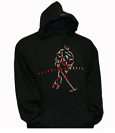 Black Hood With Embroidered Hockey Player