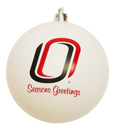 Candy White Ornament With O Logo