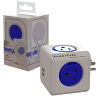 Powercube 4 Outlet, 2 Usb + Surge Protection
