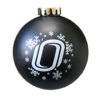 Matte Black Shatterproof Ornament