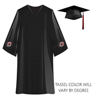 Bachelors Degree Cap, Gown, Tassel Package