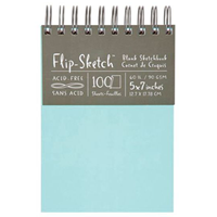 "Hand Book Journal Co.™ Flip-Sketch™ Wire-Bound Sketchbook 5"" X 7"" Portrait"