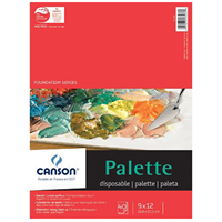 "Canson® Foundation Series 9"" X 12"" Disposable Palette Sheet Pad"