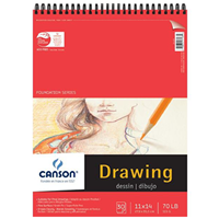 "Canson® Foundation Series 11"" X 14"" Foundation Drawing Pad"