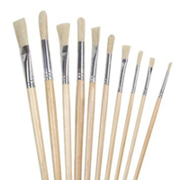 Heritage Arts™ 10-Piece Long Handle Oil Brush Value Set