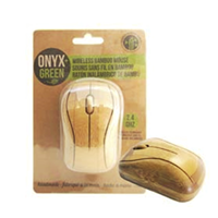 Onyx & Green Bamboo Wireless Mouse