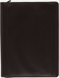 Black Cambridge Zip Padfolio