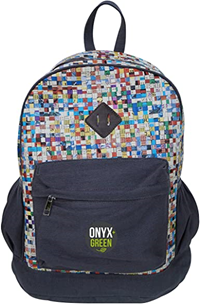 Onyx & Green Recycled Backpack