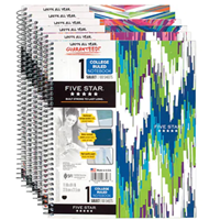 5 Star 1 Subject Notebook, 100 Count