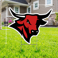 18 X 22 Bull Logo Yard Sign