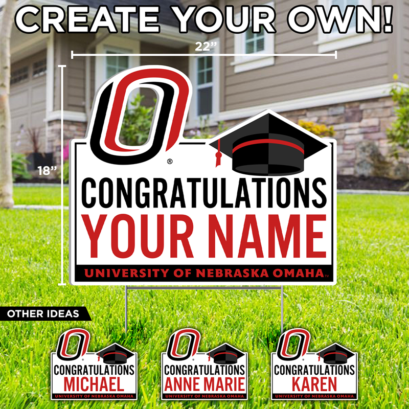 18 X 22 Congratulations 'Your Name' Yard Sign (SKU 11385653208)