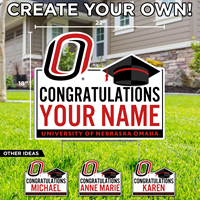 18 X 22 Congratulations 'Your Name' Yard Sign